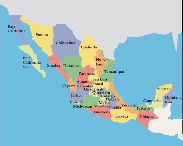 cuantos estados tiene mexico
