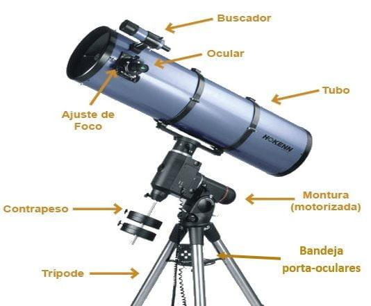partes del telescopio