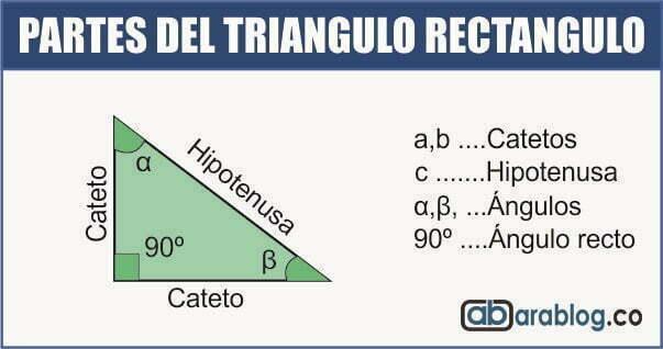 partes del triangulo rectangulo