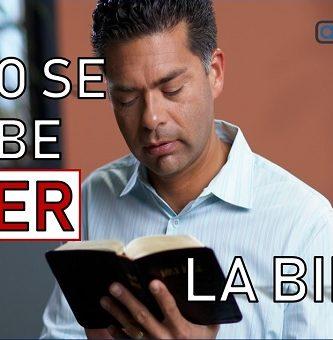 como se debe leer la biblia