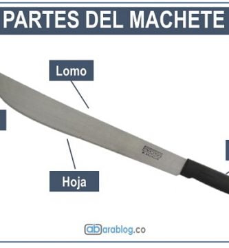 el machete y sus partes