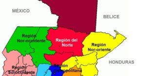 mapa de regiones de guatemala