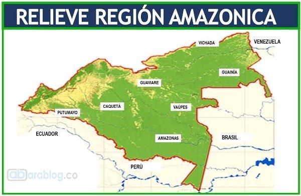 mapa region amazonica