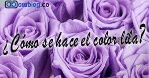 que colores se mezclan para hacen el lila