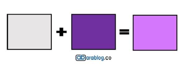 como se hace el color violeta
